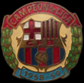 Emblema antiguo Futbol Club Barcelona